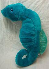 "Wildlife Artists 1993 Bright Turquoise Sea Horse 11"" Plush Stuffed Animal Toy"