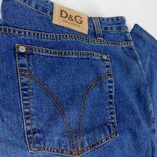 Dolce Gabbana Men Blue Denim Jeans 48 w 44 L 36 Button Fly Italy