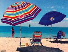 Tommy Bahama 2M Sand Anchor Beach Umbrella Tilt Outdoor Sun Shade New 2020 stock