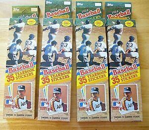 MLB - Topps 1984 - (Lot of 4 boxes) - 140 Baseball Album Stickers - NEW