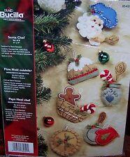 Bucilla SANTA CHEF Baking Felt Christmas Ornaments Kit (6) OOP Factory Direct