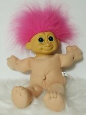 """Russ Troll 14"""" Troll With Pink Hair And Plush Body"""
