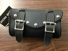 STUDDED PVC MOTORCYCLE TOOL BAG W/ QUICK CLIP ON FLAP 4 HARLEY DAVIDSON & METRIC