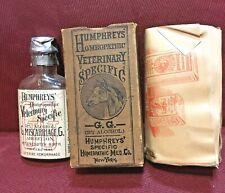 Antique Medicine Bottle Quack Veterinary: Humphrey's Female, Abortion,Homeopathy