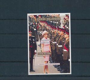LO28507 Cook Islands overprint princess Diana royalty good sheet MNH