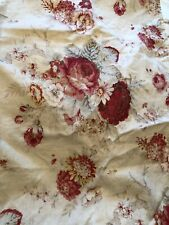 Shabby Chic Cabbage Roses Standard Linen Cotton Pillowcases Set Of 2