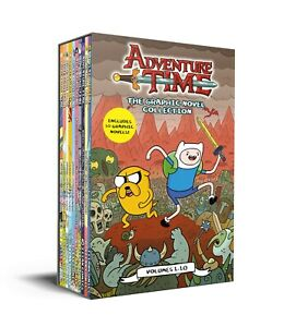 Adventure Time The Graphic Novel Collection Volumes 1-10 Books Box Set