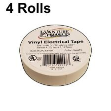 "4 Rolls of White Electrical Tape 3/4"" X 66ft Trailer RV Wires LaVanture"