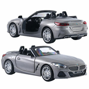 1/30 BMW Z4 M40i Convertible Model Car Diecast Vehicle Collection Kids Gift Grey