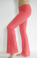 Yoga Fitness Gym Stretch Athletic Pants With Fold Down Waist    S, M, L    NWT.