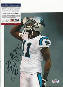 BRANDON LAFELL CAROLINA PANTHERS SIGNED COLOR 8X10 W PSA COA U79494