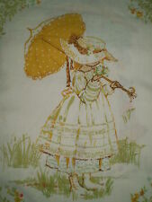 Vintage EXTRA LARGE HOLLY HOBBIE Fabric Panel - Genuine #4