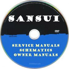 Sansui Service Manuals & Schematics- PDFs on DVD -Ultimate Collection- SRManuals