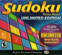 Sudoku Puzzle Addict Unlimited Edition - CD-ROM - VERY GOOD