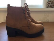 New Suede Tan Boots Size 6