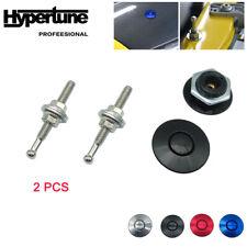 2 Pcs 125 Billet Push Button Hood Latch Quick Release Bonnet Pins Lock Clip