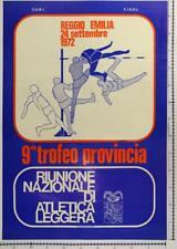 RIUNIONE NAZIONALE ATLETICA LEGGERA, Reggio Emilia, poster 1972