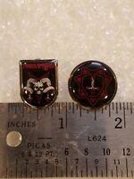 set of 2 PROCLAMATION enamel pins (blasphemy, beherit, sacrificio, sarcofago)