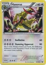 HAXORUS Holo Rare Pokemon NM Card Dark Explorers 89/108