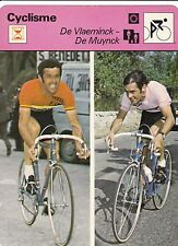 CYCLISME carte cycliste fiche photo DE VLAEMINCK - DE MUYNCK