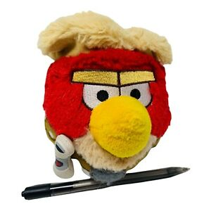"Angry Birds Star Wars Plush Luke Skywalker Red Stuffed Animal Blonde Bird 5"" Toy"