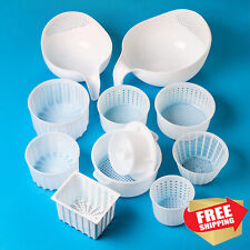 Cheesemaking kit 10 pcs Cheese mold | Soft cheese | Goat Cow Rennet Cheese Press