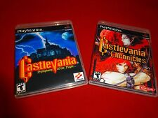 EMPTY Cases! Castlevania Symphony of the Night Chronicles Sony PlayStation 1 PS1