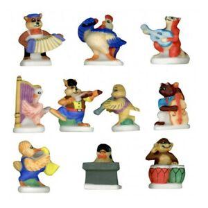 SYMPHONIEMAUX _ Série complète 10 Feves _ Vitrine collection miniature porcelain