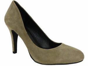 INC International Concepts Women's Jade Pumps Winter Taupe Leather Size 6.5 M
