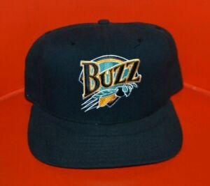 VTG 90s Salt Lake City Buzz Minor League Snapback Baseball Hat Cap New Era USA