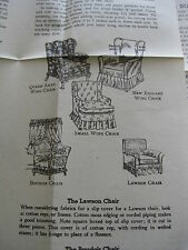 Vintage Alice Brooks #7397 Furniture Slip Covers Mail Order Instructions 1970's