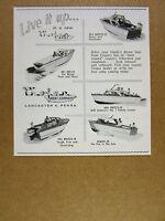 1958 Trojan Sea Breeze Ski Bee & Bimini boat yacht cruiser vintage print Ad
