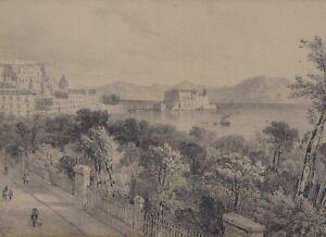 Thomas Sidney Cooper RA (1803-1902) - Gibraltar Drawing Provenance c.1830