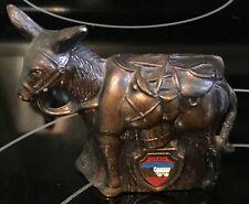 Vintage Copper Mule Donkey Figurine Utah State Souvenir
