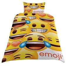 Set Copripiumino Emoji giallo faccina sorridente Cuscino Regalo Divertente Nuovo prodotto con licenza ufficiale
