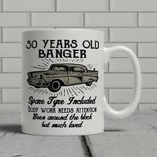 50th birthday mug funny banger cheeky gift idea husband dad father happy 50