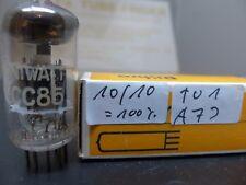 1x ecc85 D-magnetiche smooth PHILIPS MINIWATT Made in Holland NOS/NIB Red Tube #3