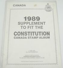 CWS Canadian Wholesale 1989 Constitution Canada Postage Stamp Supplement  NOS