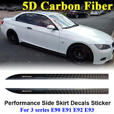 M Performance Side Skirt 5D Carbon Fiber Sticker BMW 3 Series E90 E91 E92 E93