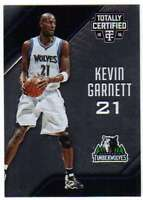 2015-16 Panini Totally Certified Basketball #1 Kevin Garnett Timberwolves