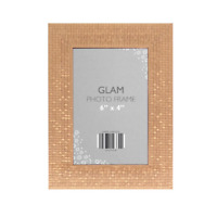 Glam Metallic Chic Free Standing & Hanging Portrait Picture Photo Frame 6 x 4
