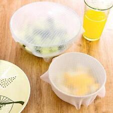 10pcs Multifunctional Silicone Plastic Wrap Reusable Sealing for Bowl Keep Fresh