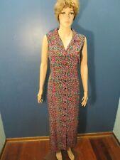 Size 16 multi-color FLORAL PRINT BUTTON UP dress by KATHIE LEE