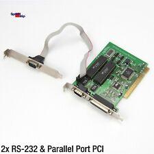 PCI PARALLEL CARD KARTE LPT DRUCKER 25-POL RS-232 AVLAB INTEK 21 PCI IO 2S1P-850