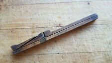 Antique Fold Up Folding Boxwood & Brass Foot Shoe ? Unusual Measure Ruler