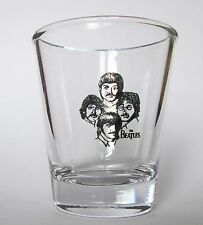 BEATLES FAB FOUR LOGO ON A CLEAR SHOT GLASS