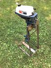 Old Brinkton outboard motor stand Evinrude Mate 2 Hp Stand Only!!! Dealer Stand