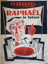 Grande affiche du film RAPHAEL LE TATOUÉ de Christian-Jacque avec FERNANDEL 1939