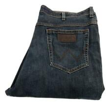 "Wrangler Texas Stretch Straight Leg Jeans Waist 42"" Leg 34"" Zip Fly (M9649)"