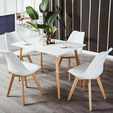 EGGREE Table Salle à Manger Rectangulaire Scandinave Design Table de Cuisine Bla